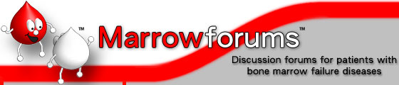 Marrowforums: discussion forums for patients with bone marrow failure diseases