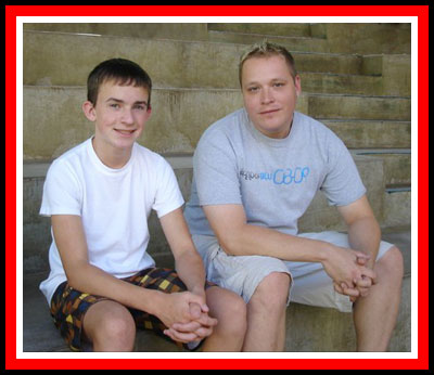 Evan met his donor Bryan Lelek in 2011