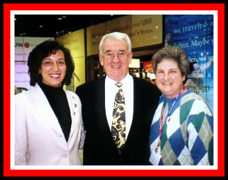 Bill Madden with Kathy and Ruth